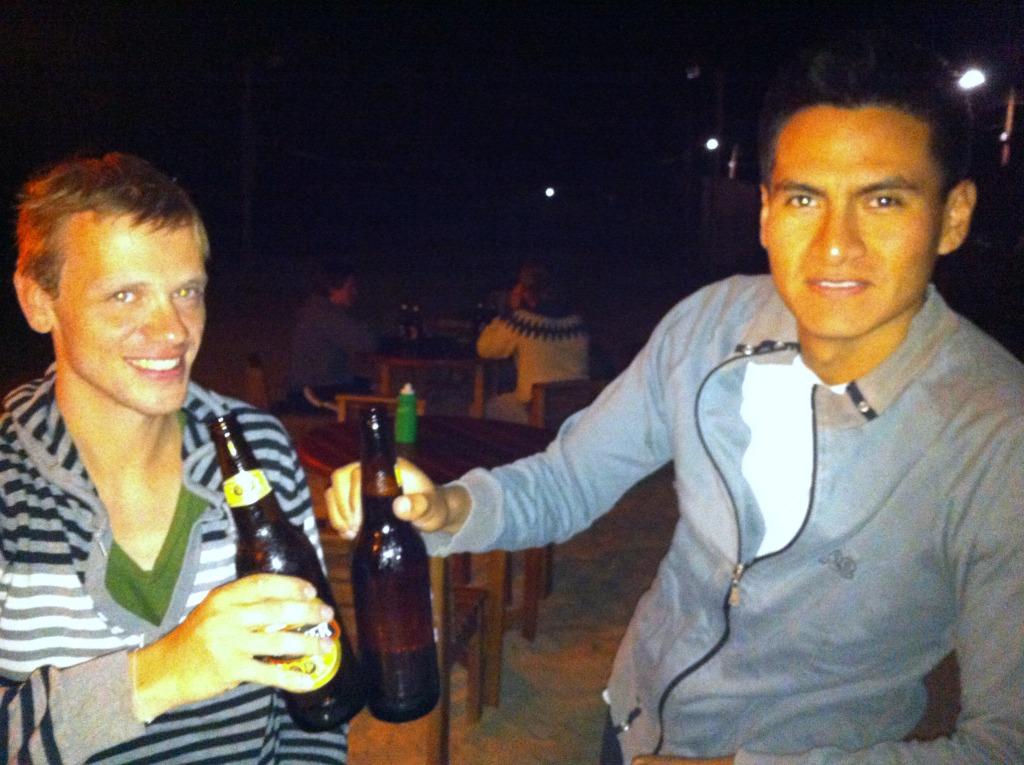 Ich mit Juan und kaltem Cerveza