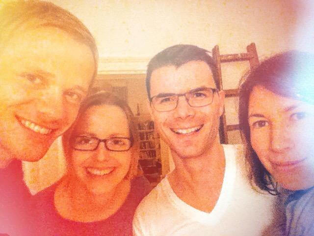 Ich, Nadine, Frieder und Sandra. Das erste Lächeln nach dem Sabbatical